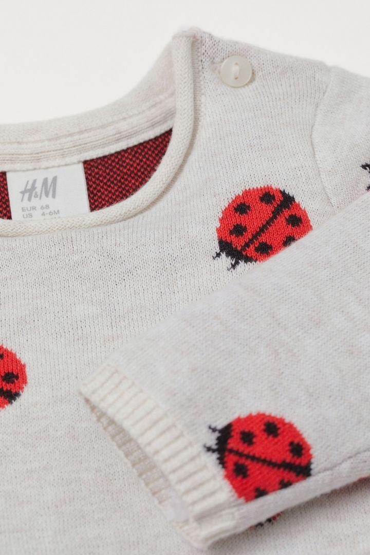 12 Fleece ladybird jumper