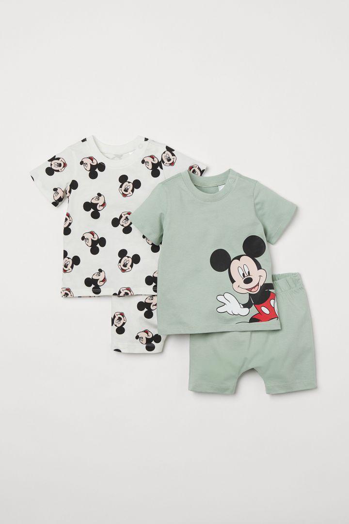 Kids Boys Official Disney Mickey Mouse Pyjamas Character Pyjama PJ Set 12M-4Y